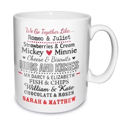 Personalised We Go Together Like Mug